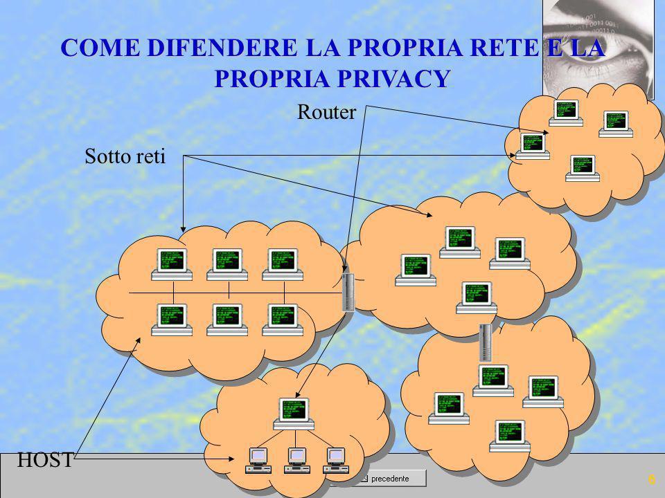 COME DIFENDERE LA PROPRIA RETE E LA PROPRIA PRIVACY
