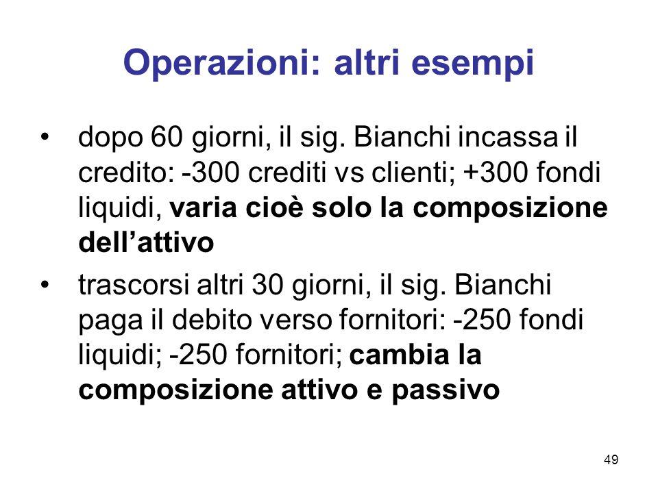 Operazioni: altri esempi