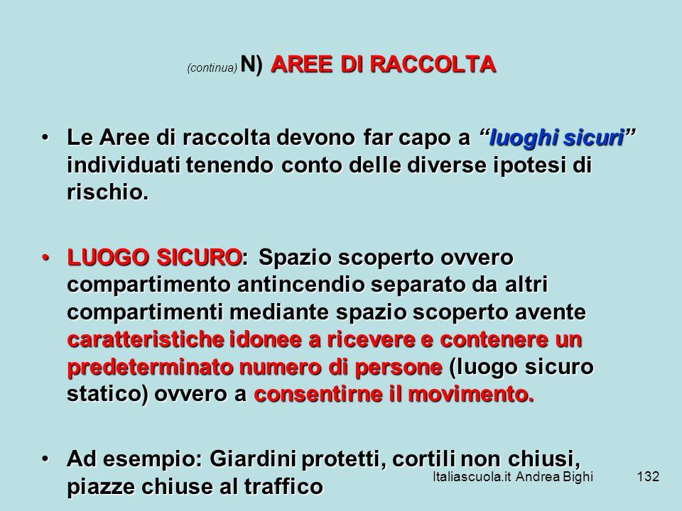 (continua) N) AREE DI RACCOLTA