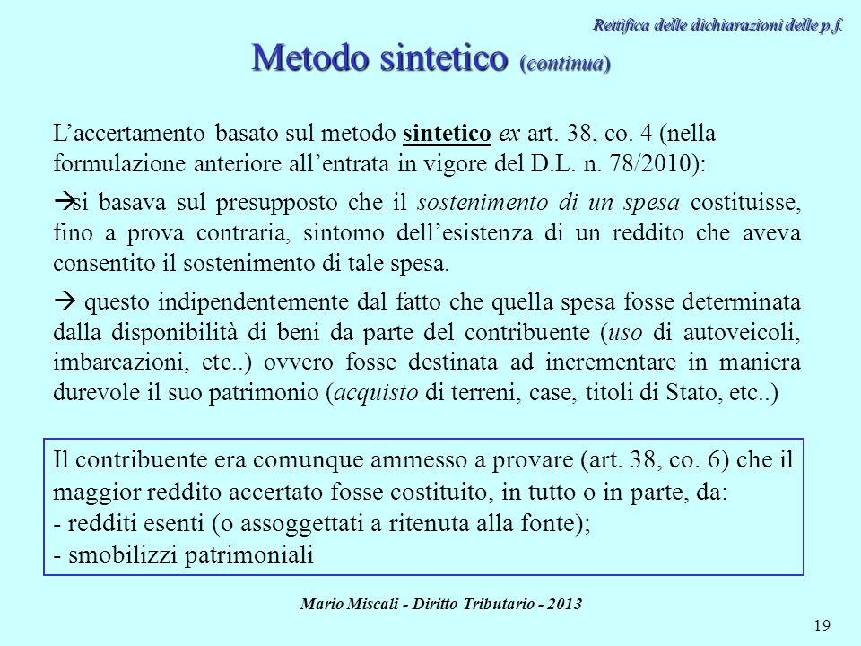 Metodo sintetico (continua)