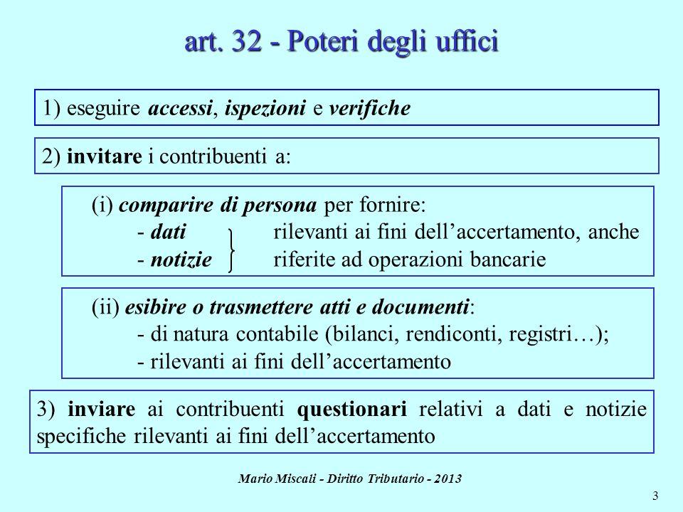 art. 32 - Poteri degli uffici