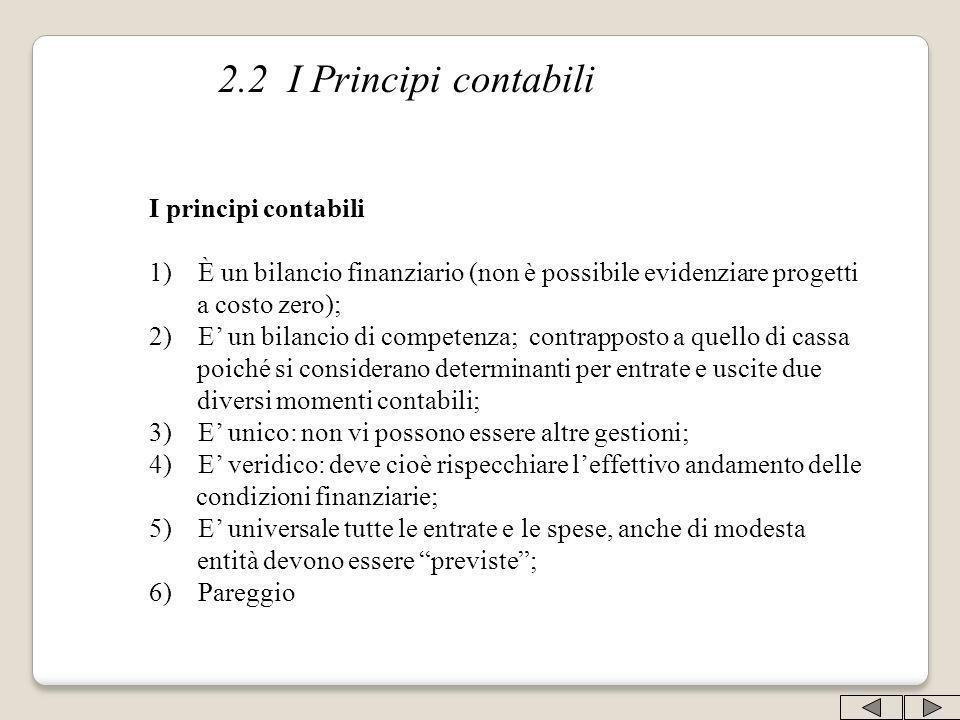 2.2 I Principi contabili I principi contabili