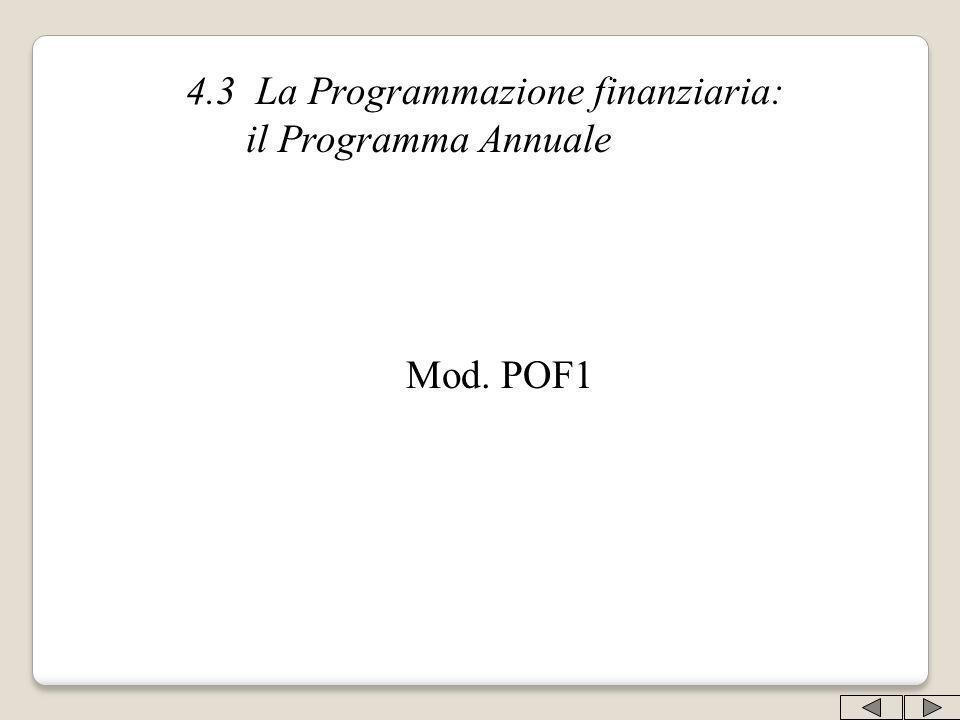 4.3 La Programmazione finanziaria: il Programma Annuale