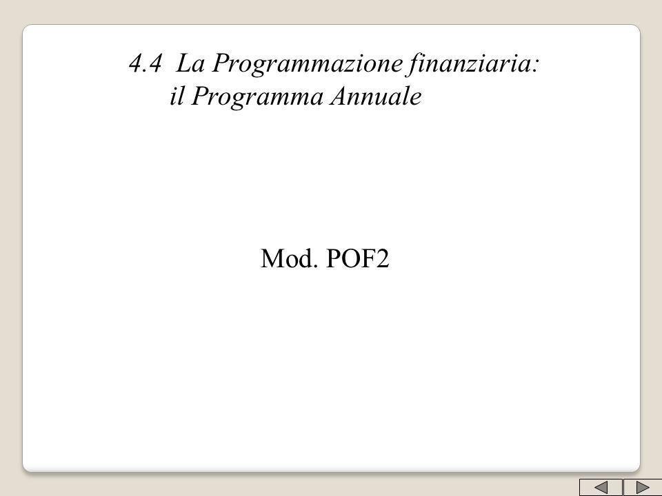 4.4 La Programmazione finanziaria: il Programma Annuale