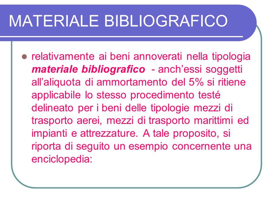 MATERIALE BIBLIOGRAFICO
