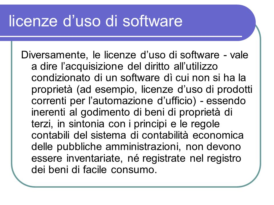 licenze d'uso di software