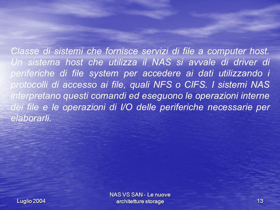 NAS VS SAN - Le nuove architetture storage