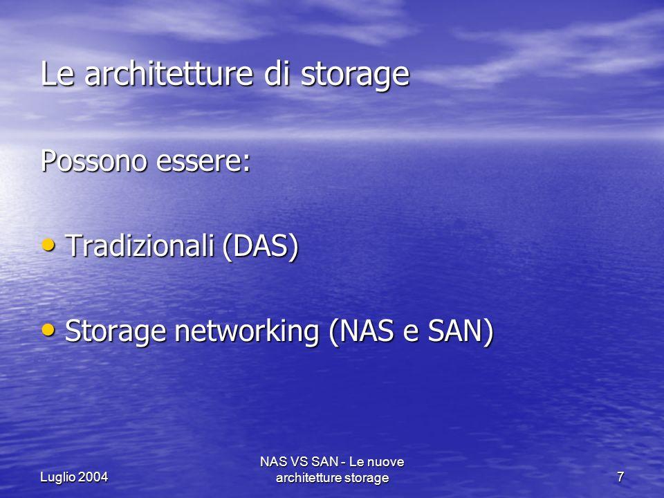 Le architetture di storage