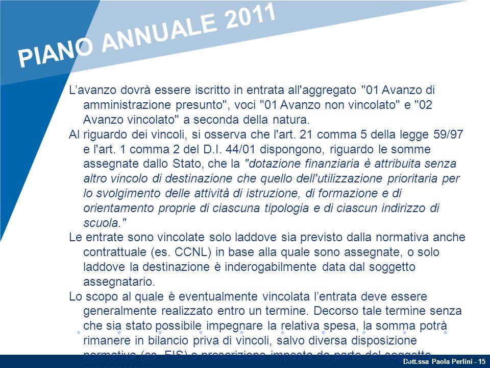 PIANO ANNUALE 2011