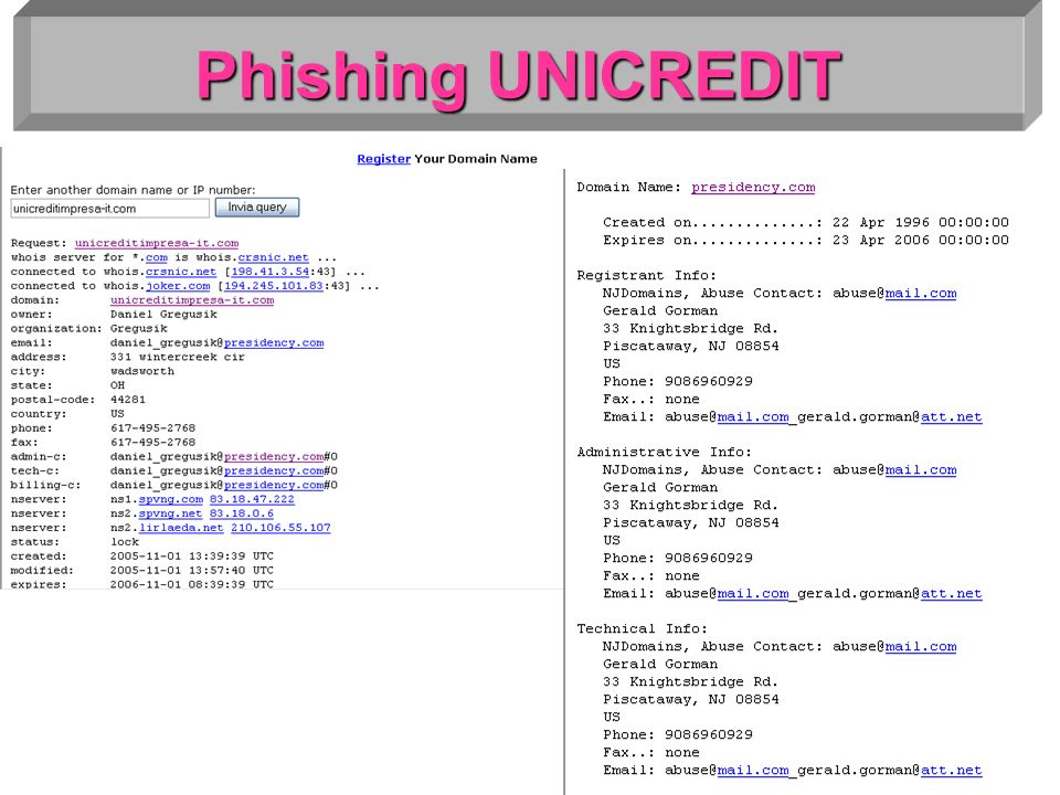 Phishing UNICREDIT