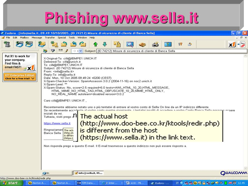 Phishing www.sella.it