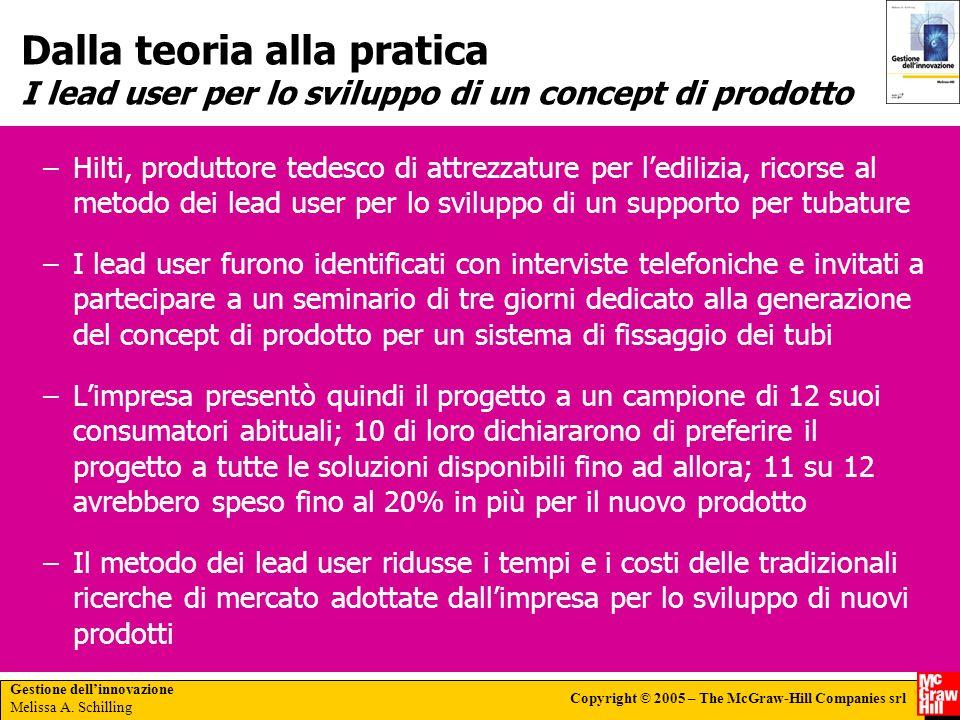 Dalla teoria alla pratica I lead user per lo sviluppo di un concept di prodotto