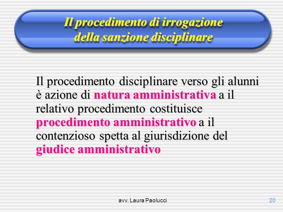 Il procedimento di irrogazione della sanzione disciplinare