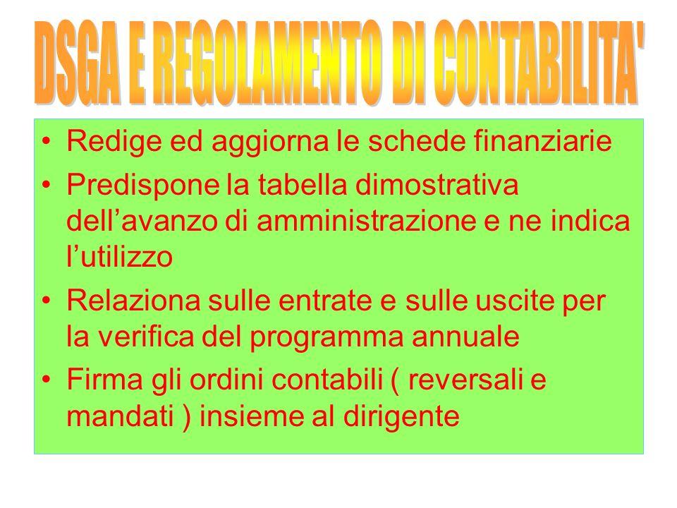 DSGA E REGOLAMENTO DI CONTABILITA