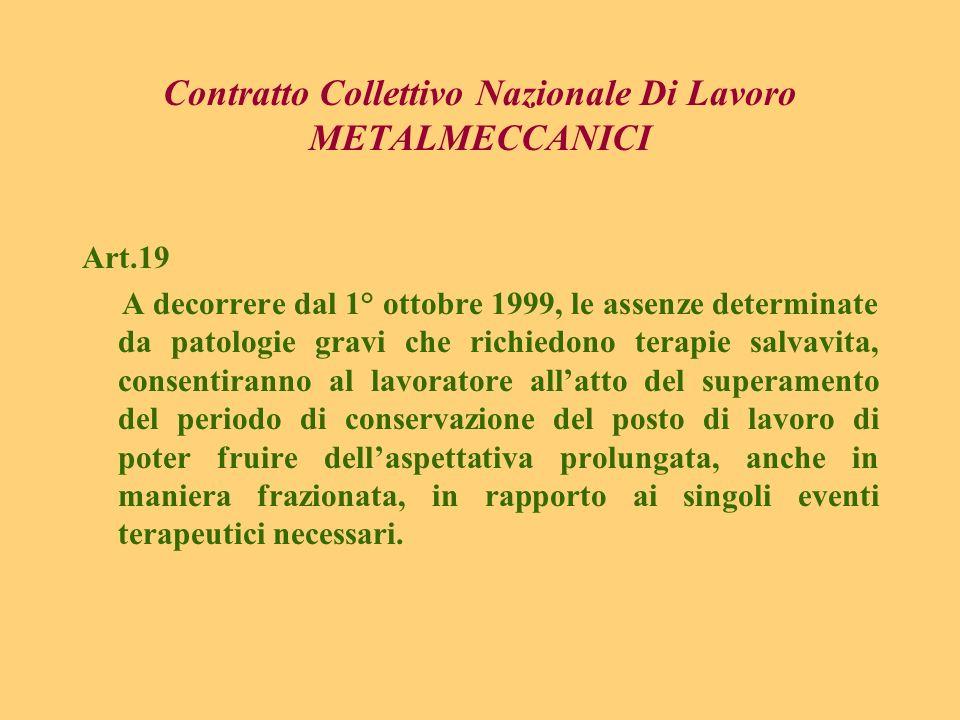 Contratto Collettivo Nazionale Di Lavoro METALMECCANICI