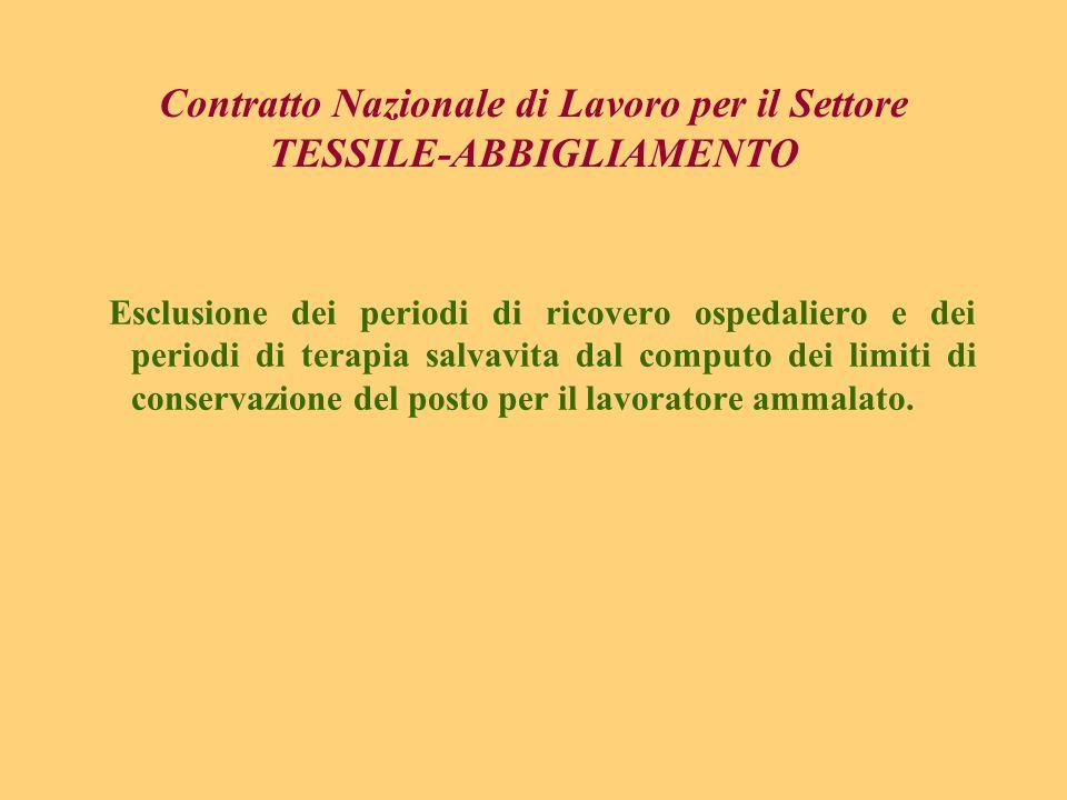Contratto Nazionale di Lavoro per il Settore TESSILE-ABBIGLIAMENTO