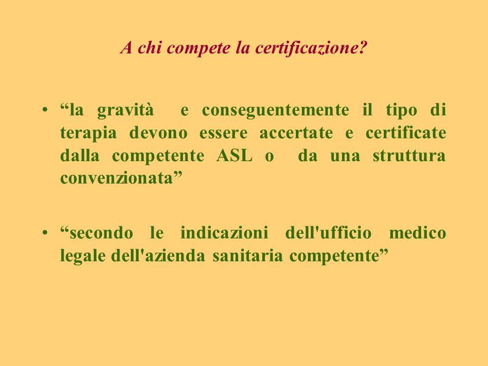 A chi compete la certificazione