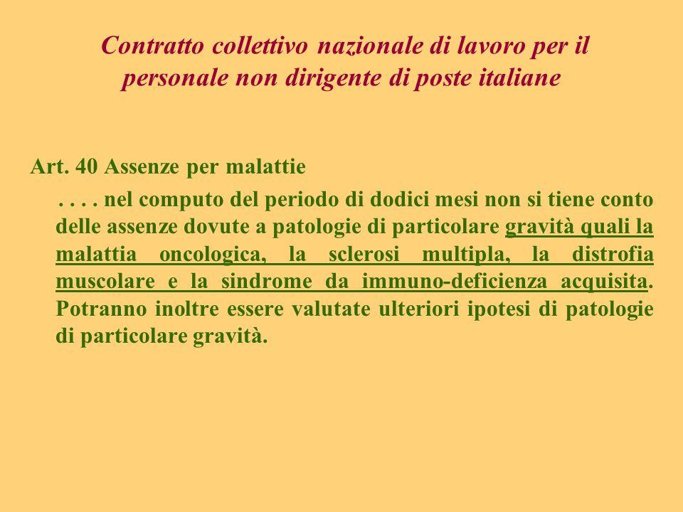Contratto collettivo nazionale di lavoro per il personale non dirigente di poste italiane