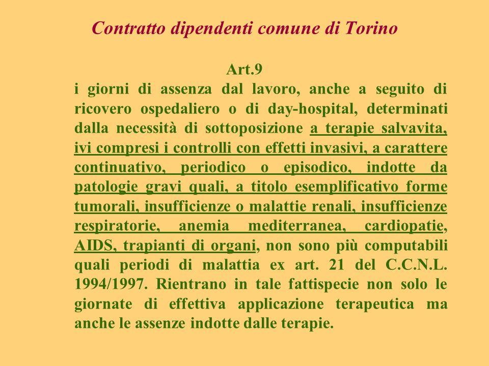 Contratto dipendenti comune di Torino