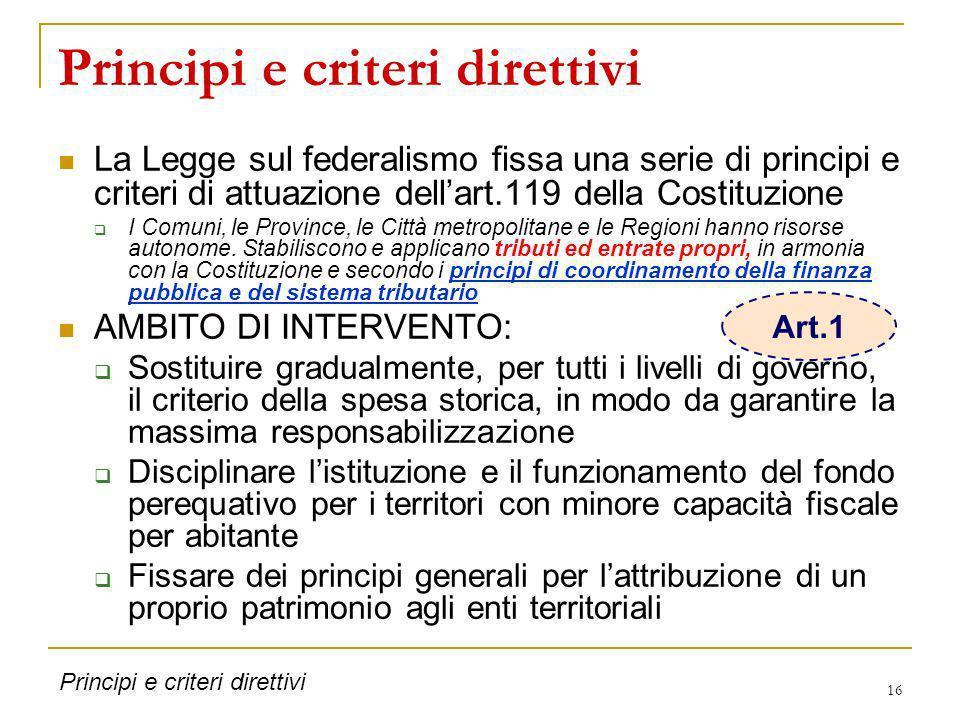 Principi e criteri direttivi