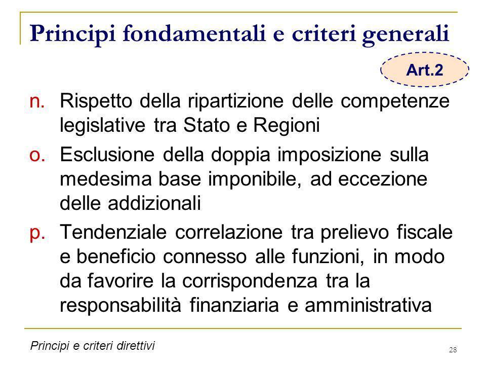 Principi fondamentali e criteri generali