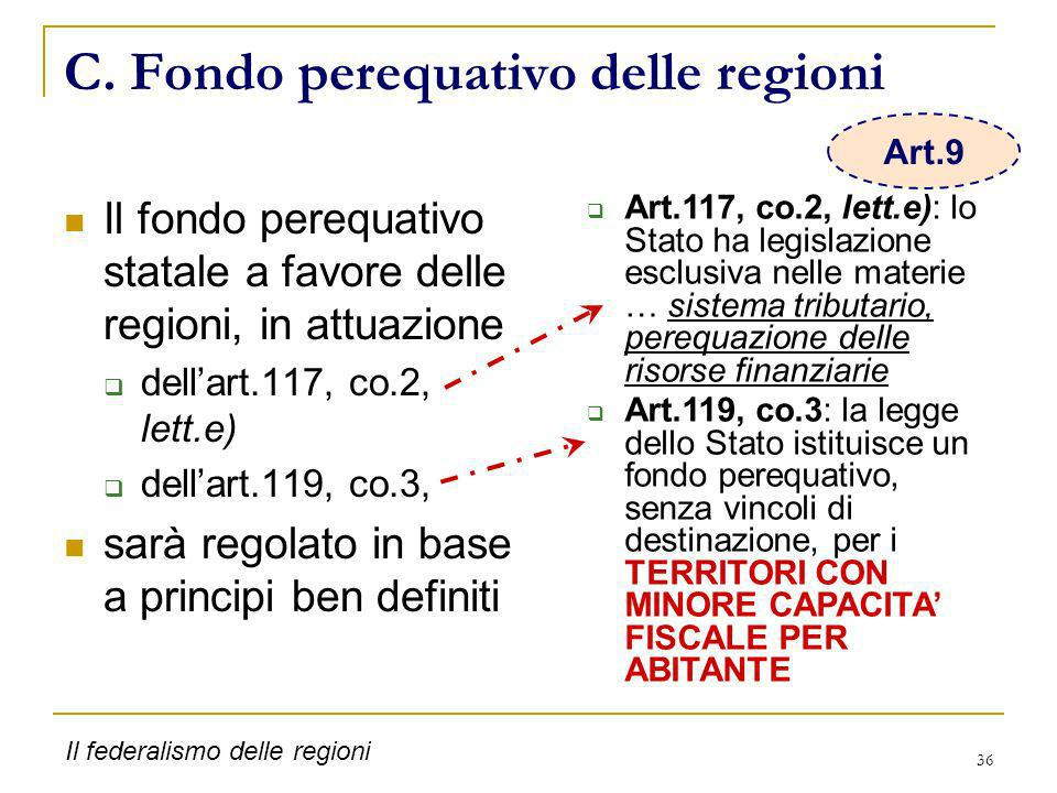 C. Fondo perequativo delle regioni
