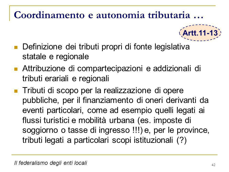 Coordinamento e autonomia tributaria …