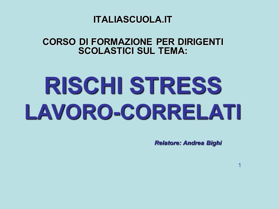 CORSO DI FORMAZIONE PER DIRIGENTI SCOLASTICI SUL TEMA: