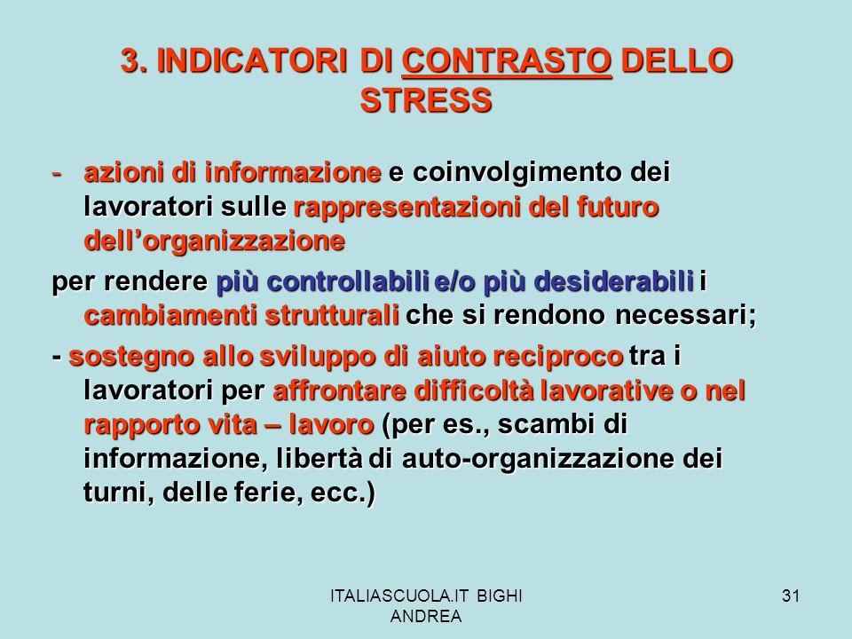 3. INDICATORI DI CONTRASTO DELLO STRESS