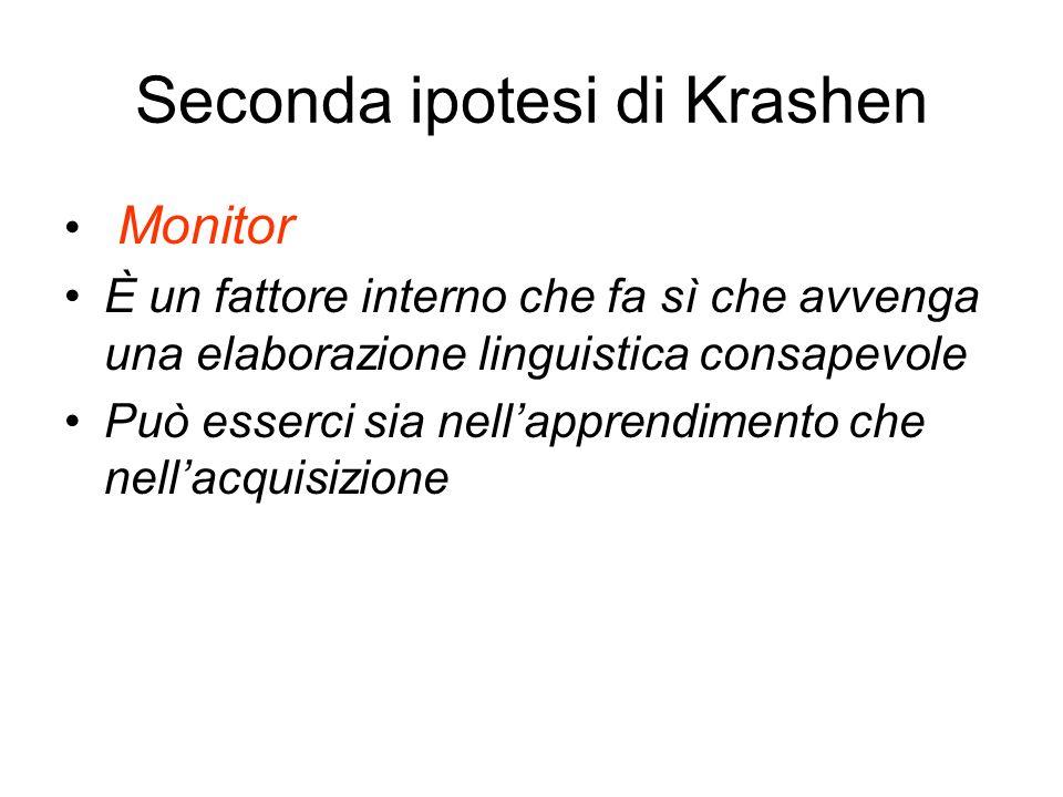 Seconda ipotesi di Krashen