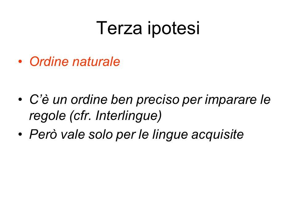 Terza ipotesi Ordine naturale