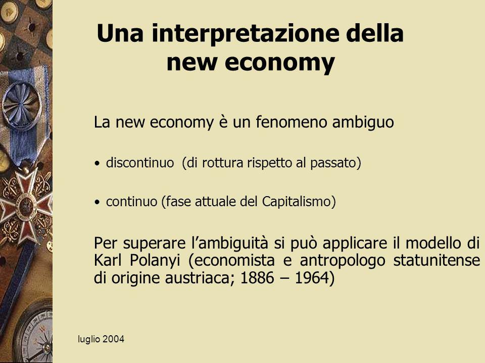 Una interpretazione della new economy