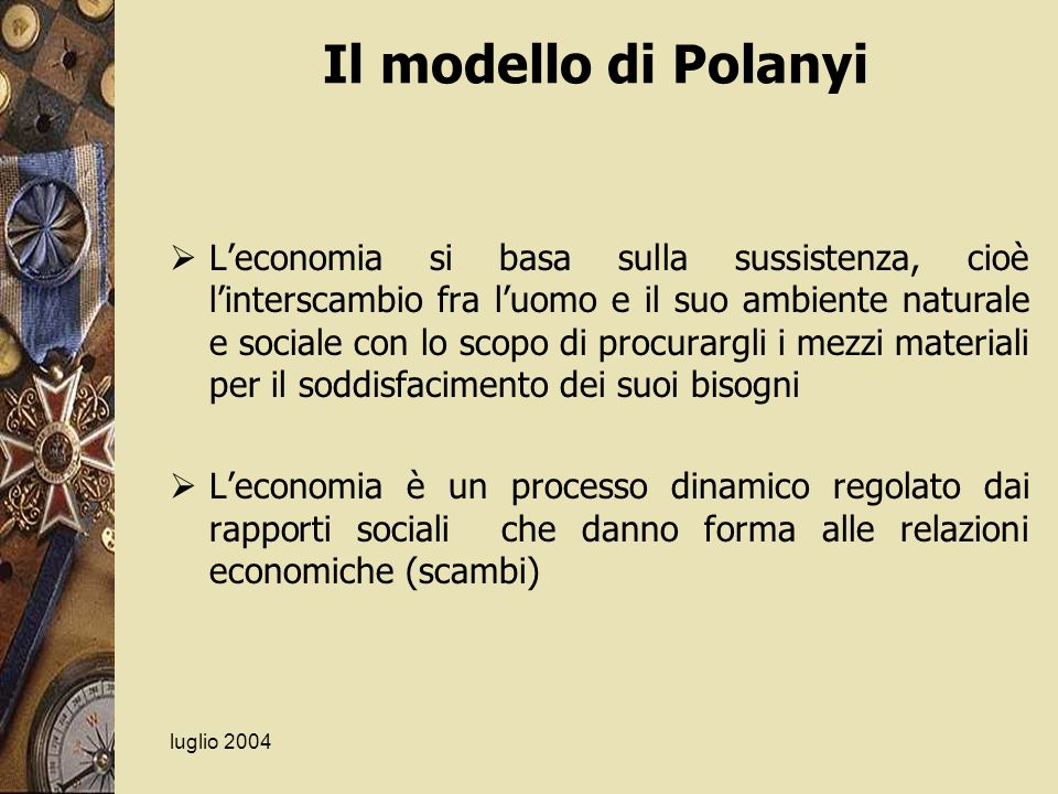 Il modello di Polanyi