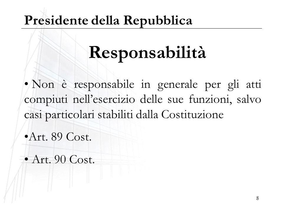 Responsabilità Presidente della Repubblica