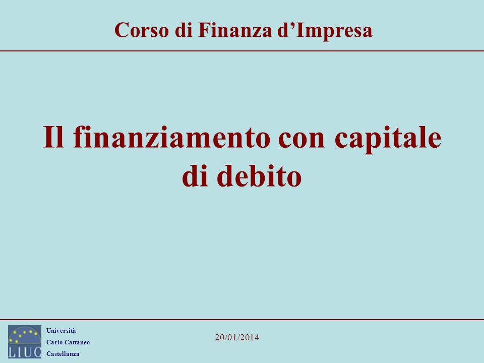 Il finanziamento con capitale di debito