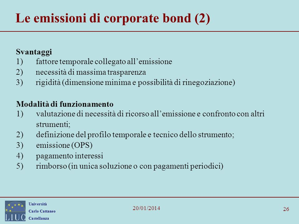 Le emissioni di corporate bond (2)