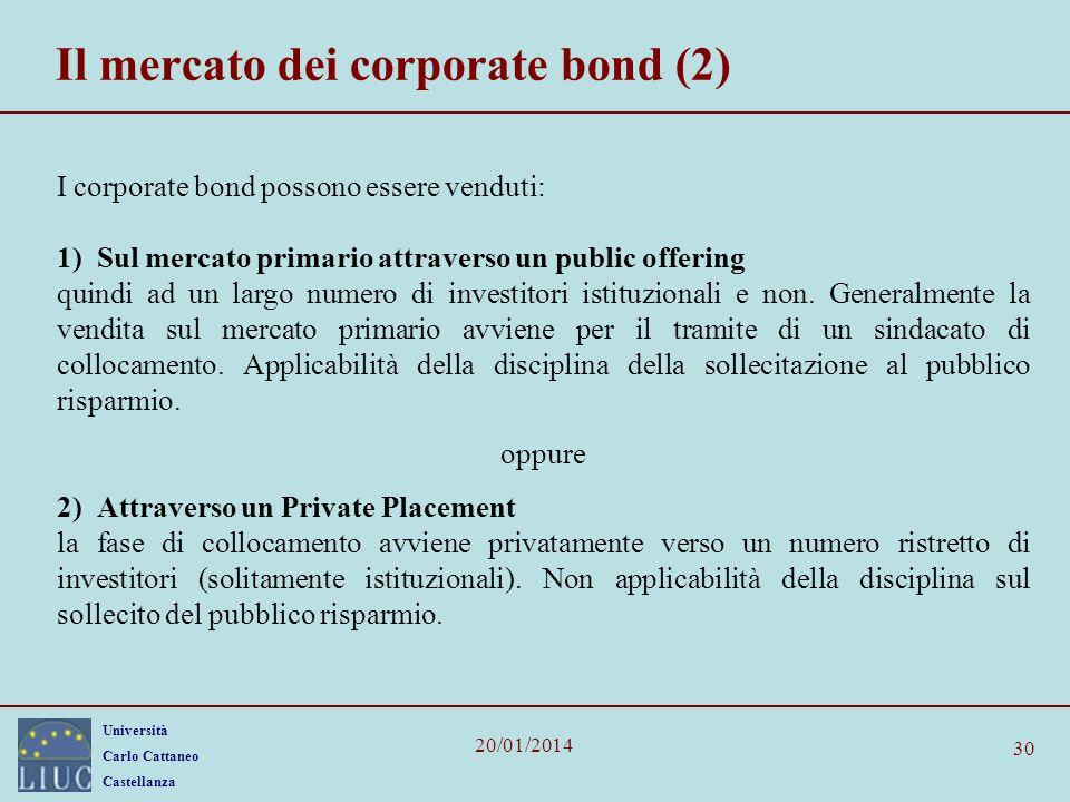 Il mercato dei corporate bond (2)