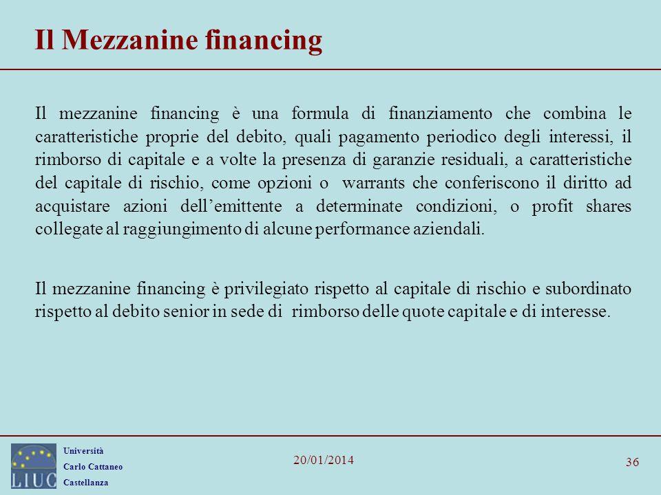 Il Mezzanine financing
