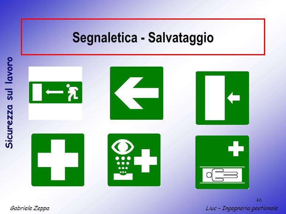 Segnaletica - Salvataggio