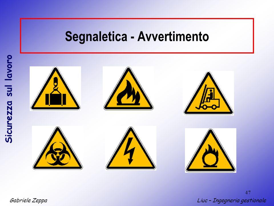 Segnaletica - Avvertimento
