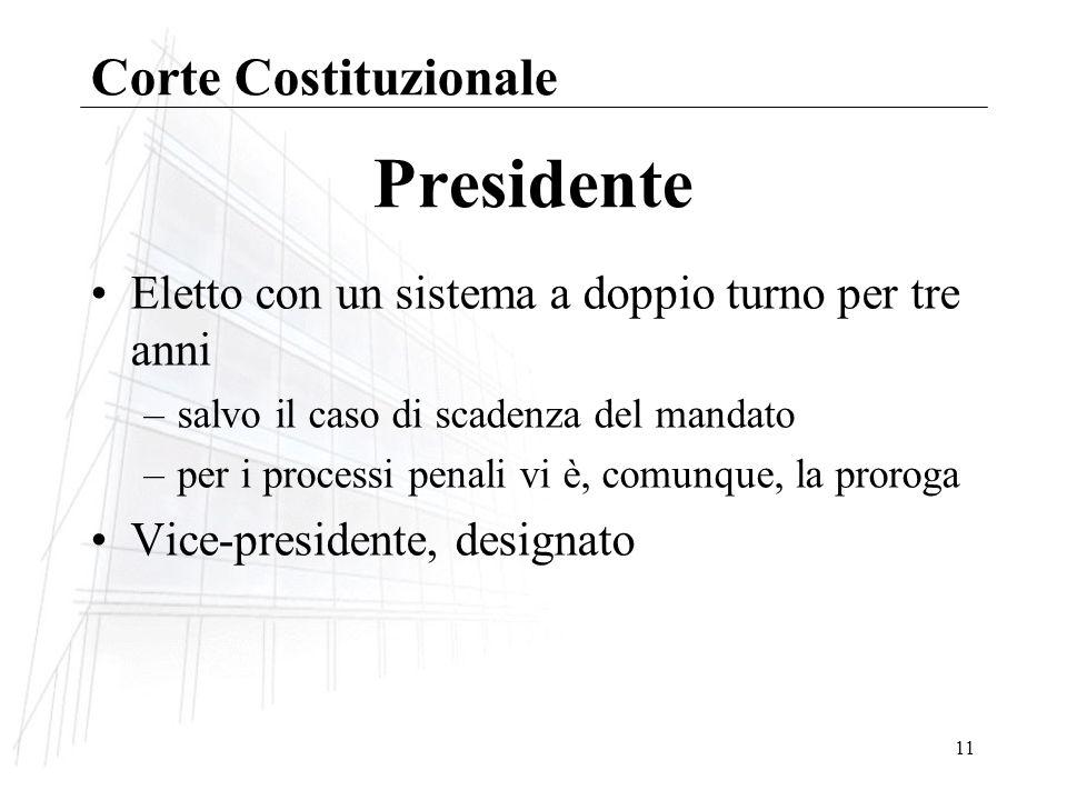 Presidente Corte Costituzionale
