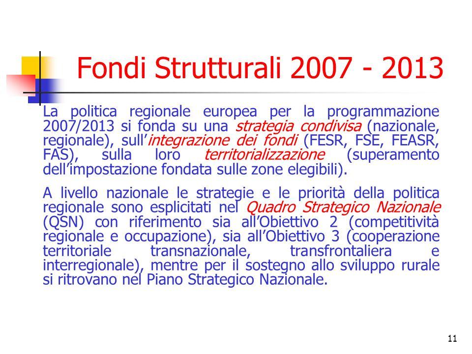 Fondi Strutturali 2007 - 2013
