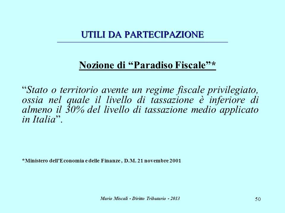 Mario Miscali - Diritto Tributario - 2013