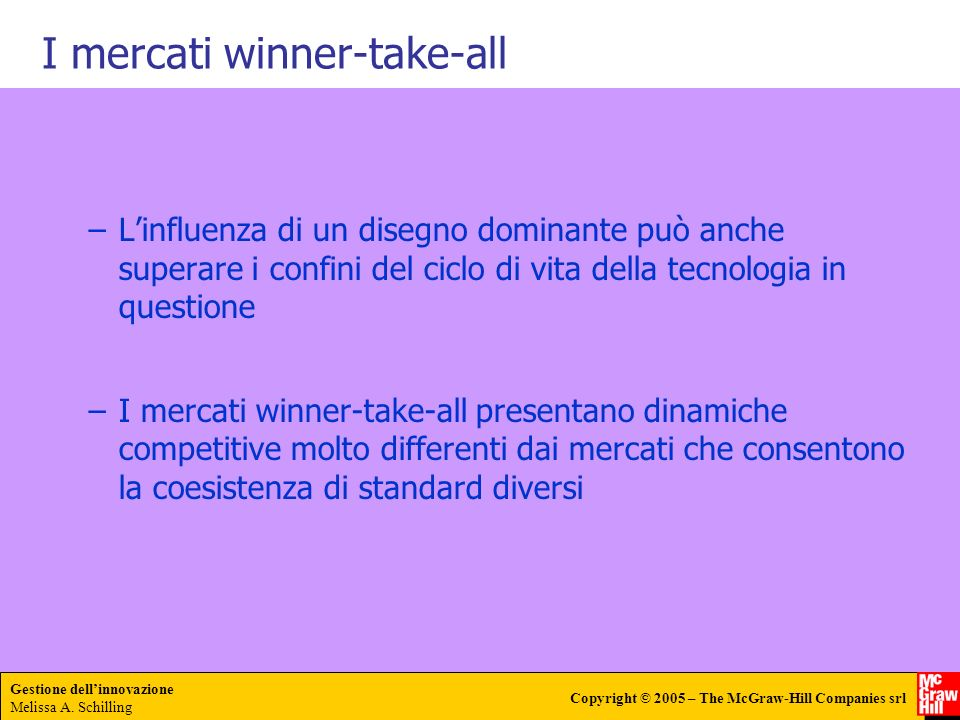 I mercati winner-take-all