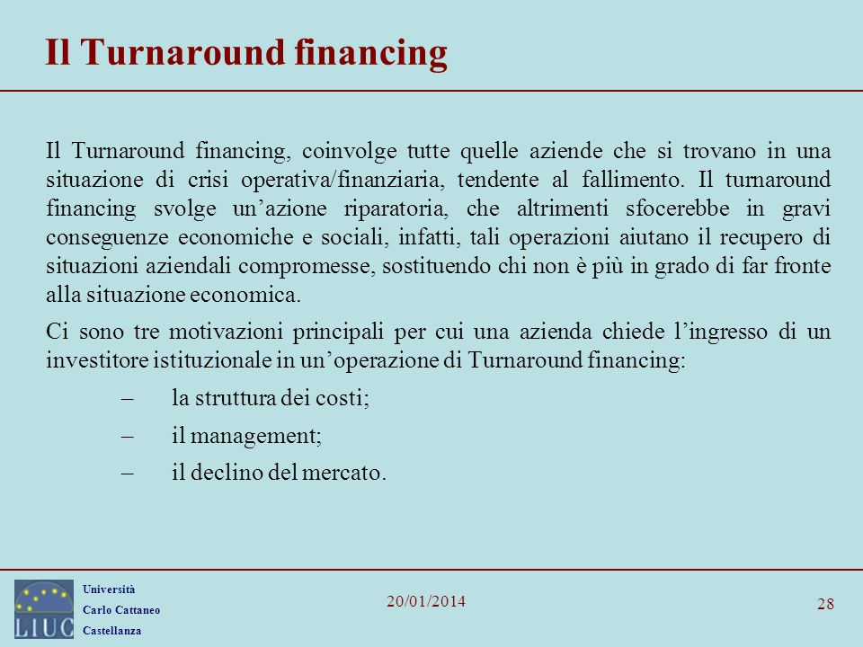 Il Turnaround financing