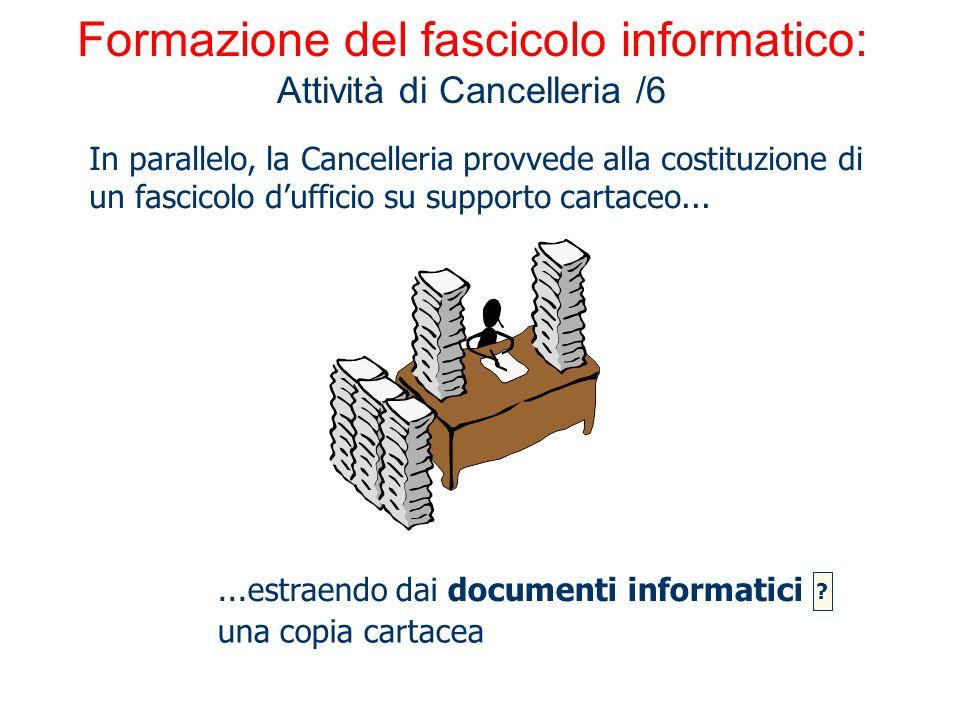 Formazione del fascicolo informatico: Attività di Cancelleria /6