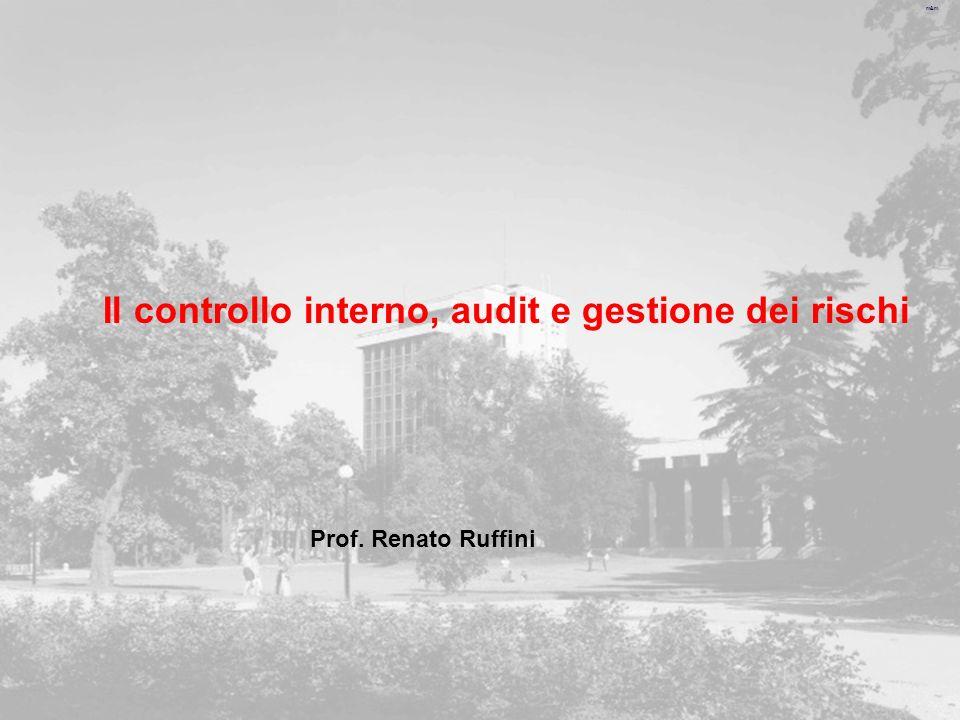Il controllo interno, audit e gestione dei rischi