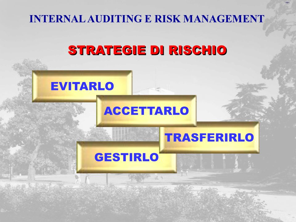 INTERNAL AUDITING E RISK MANAGEMENT