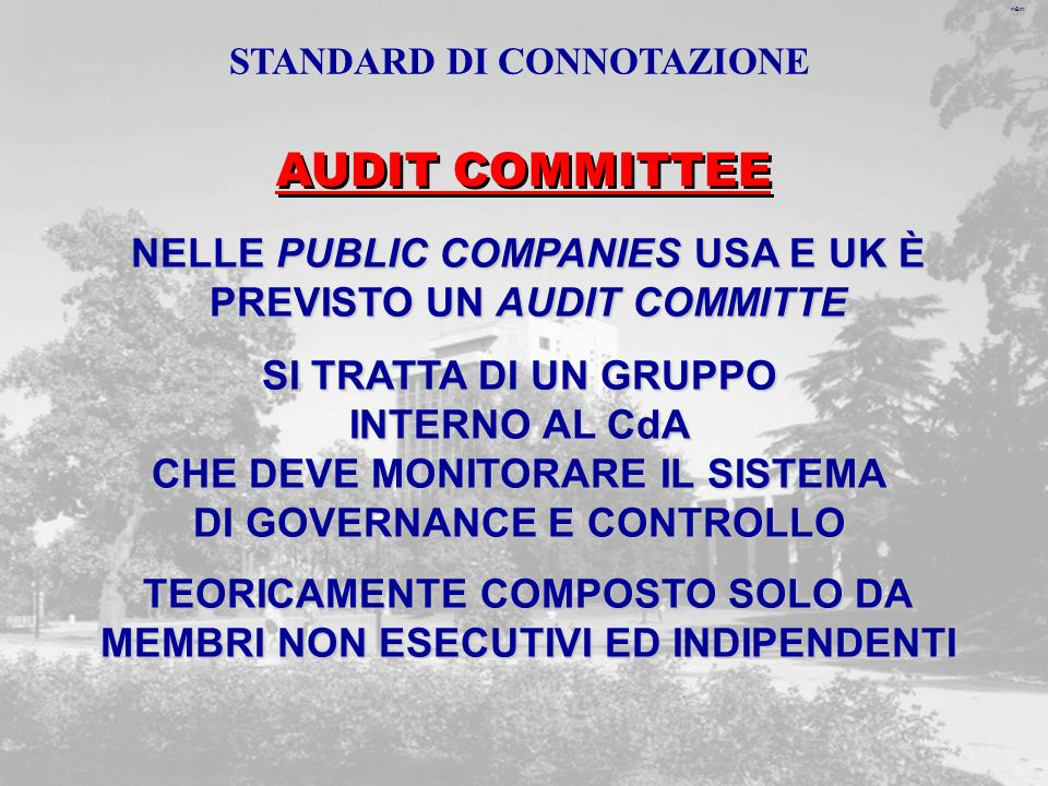 AUDIT COMMITTEE NELLE PUBLIC COMPANIES USA E UK È