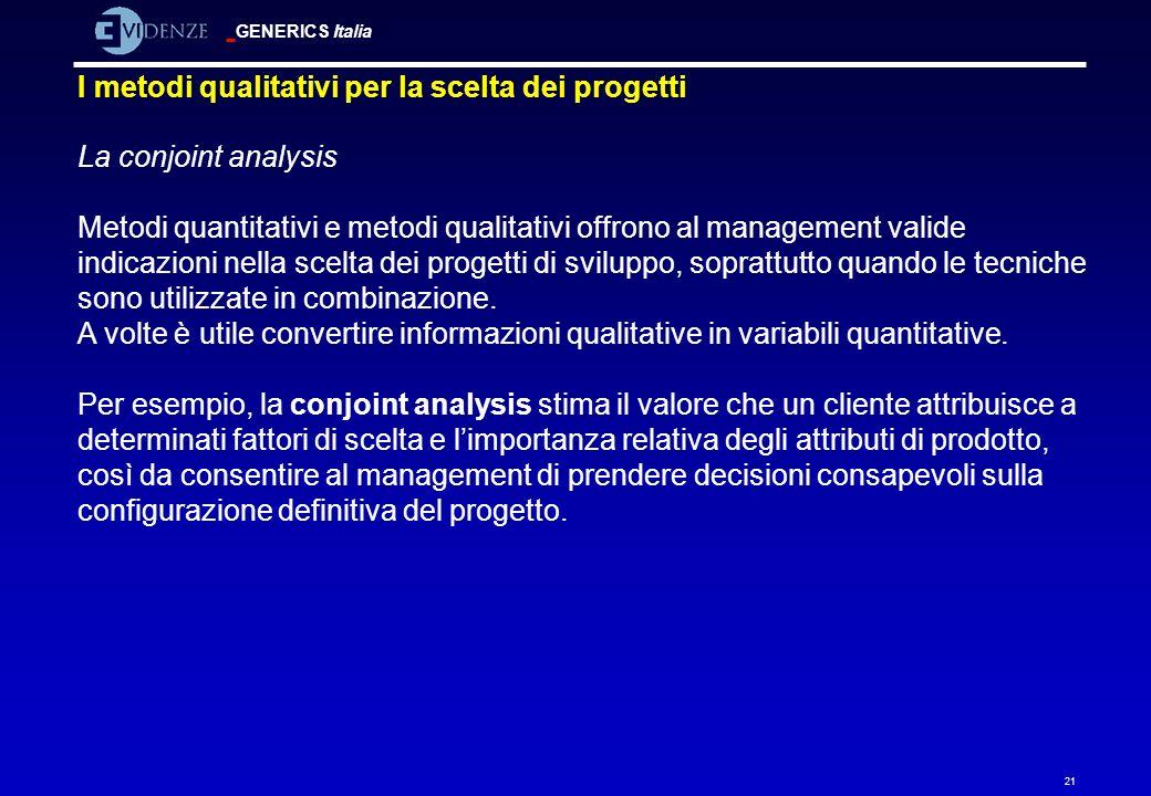I metodi qualitativi per la scelta dei progetti